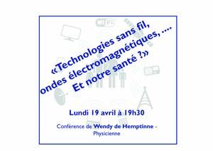Technologies sans fil, ondes électromagnétiques… et notre santé ?